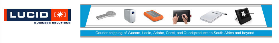 Courier shipping of Wacom, Lacie, Buffalo, Adobe, Corel, Quark and Pantone products to South Africa and beyond